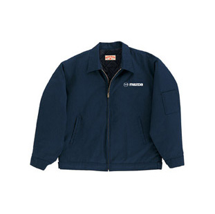 Mazda Navy Blue Slash Pocket Technician Jacket w/ Mazda Logo - Click for Large View