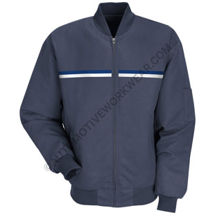 Red Kap Team Technician Jacket with Dual Chest Stripes - Click for Large View