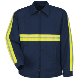 Red Kap Enhanced Visibility Perma-Lined Panel Jacket - Click for Large View