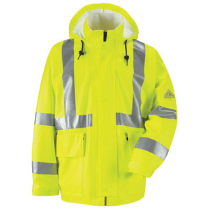 Bulwark Flame Resistant Hi-Visibility Rain Jacket HRC2 - Click for Large View