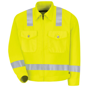 Red Kap Hi Visibility Jacket  - Class 2 Level 2 - Click for Large View