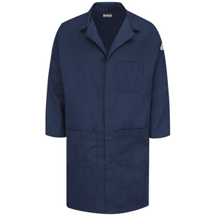 Bulwark Flame Resistant Concealed Snap-Front Lab Coat - Click for Large View