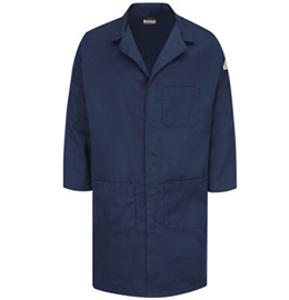 Bulwark Flame Resistant Concealed Snap-Front Lab Coat