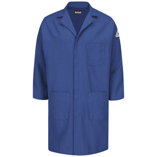 Bulwark Flame Resistant Nomex Concealed Snap-Front Lab Coat - Click for Large View