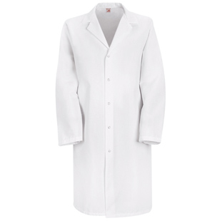 Red Kap Specialized Gripper Front Pocketless Lab Coat  (Snaps - No Buttons) - Click for Large View