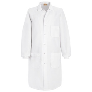 Red Kap Unisex Specialized Cuffed White Lab Coats - Click for Large View