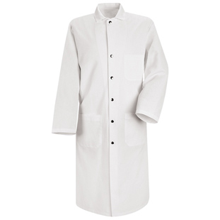 Chef Designs Snap-Front Spun Poly Butcher Coat - Click for Large View