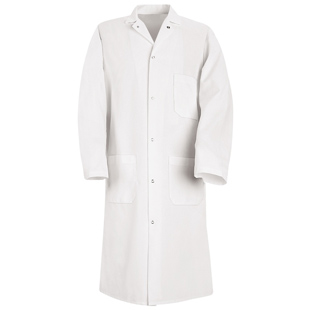 Chef Designs 100% Polyester Butcher Frock with Pockets (3 outside) - Click for Large View