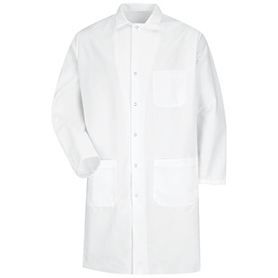 Chef Designs Gripper Front Butcher Coat - Click for Large View