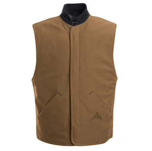 Bulwark Flame Resistant  Brown Duck Vest Jacket Liner - Click for Large View