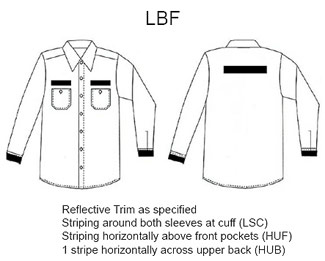 Reflective Striping Option #22 (LBF) - Click for Large View