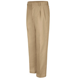 Red Kap Men's Pleated Industrial Work Pants