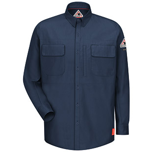 Bulwark Flame Resistant IQ Series Patch Pocketed Shirt - Click for Large View