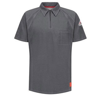 Bulwark Flame Resistant IQ Series Short Sleeve Polo - Click for Large View