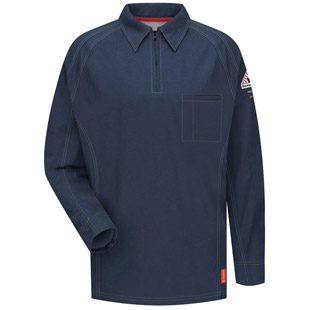 Bulwark Flame Resistant IQ Series Long Sleeve Polo - Click for Large View