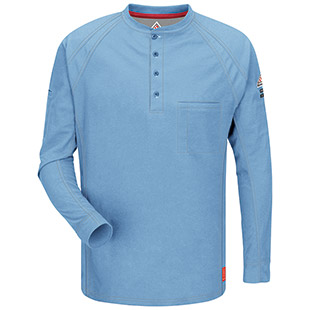 Bulwark Flame Resistant IQ Series Long Sleeve Henley - Click for Large View