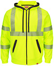 Closeout - Red Kap Full Zip ANSI Hi Visibility Work Hoodie - Class 3 Level 2