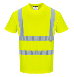 Portwest Hi Vis Cotton Comfort Short Sleeve T-Shirt - Type R, Class 2