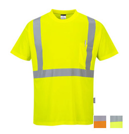Portwest Hi-Vis Short Sleeve Pocket T-Shirt - Type R, Class 2