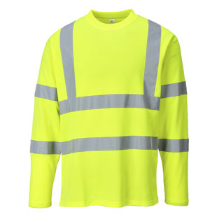 Portwest Hi Vis Cotton Comfort Long Sleeve T-Shirt - Type R, Class 3 - Click for Large View