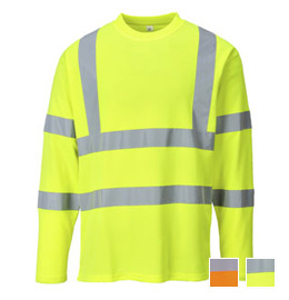 Portwest Hi Vis Cotton Comfort Long Sleeve T-Shirt - Type R, Class 3