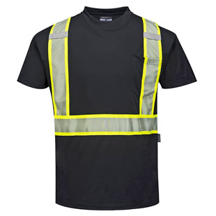 Portwest Iona Plus Enhanced Visibility Short Sleeve T-Shirt - Click for Large View