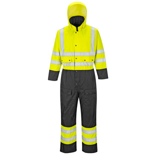 Portwest Hi-Vis Contrast Rain Coverall - Type R, Class 3 - Click for Large View