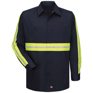 Enhanced Visibility Cotton L/S Work Shirt - Click for Large View