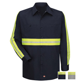 Enhanced Visibility Cotton L/S Work Shirt