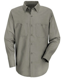 Men's Wrinkle Resistant 100% Cotton Long Sleeve Work Shirt