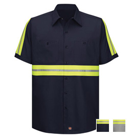 Red Kap Enhanced Visibility Cotton S/S Work Shirt
