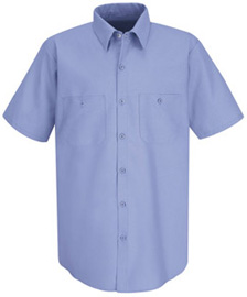 Men's Wrinkle Resistant 100% Cotton Short Sleeve Work Shirt