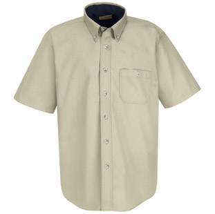 Red Kap Unisex Heavy Weight Cotton Twill Short Sleeve Casual Shirt - Click for Large View