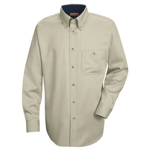 Red Kap Unisex Heavy Weight Cotton Twill Long Sleeve Casual Shirt - Click for Large View