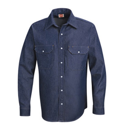 Red Kap Men's Premium Denim Western Work Shirts