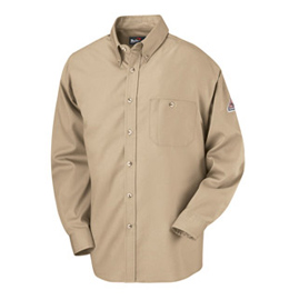 Flame Resistant Excel-FR Cotton Button Front Dress Uniform Shirt