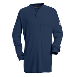 Bulwark Flame Resistant Excel-FR Long Sleeve Tagless Henley Shirt