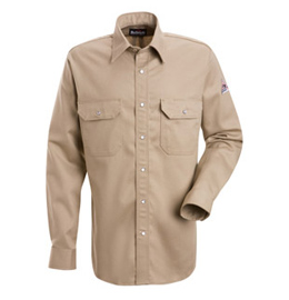 Bulwark Flame Resistant Excel-FR Cotton Snap Front Deluxe Shirt