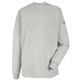 Bulwark Flame Resistant Long Sleeve Tagless T-Shirt - Click for Large View