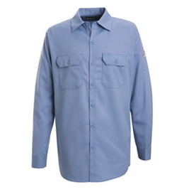 Bulwark Flame Resistant Excel-FR Cotton Button Front Work Shirts