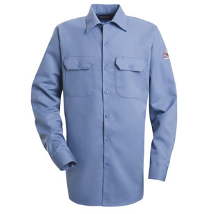 Bulwark Flame Resistant Excel-FR 7.0 oz. Comfortouch Button Front Work Shirt - Click for Large View