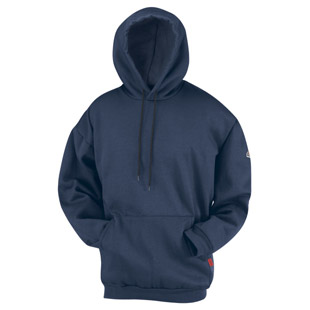 Bulwark Flame Resistant Modacrylic Fleece Pullover Hooded Sweatshirt - Click for Large View