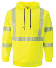 Bulwark Flame Resistant Hi-Visibility Pullover Hooded Sweatshirt