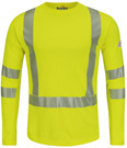 Bulwark Flame Resistant High Visibility Long Sleeve T-Shirt - Class 3 Level 2