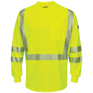 Bulwark Flame Resistant Hi-Visibility Midweight T-Shirt CAT2 - Click for Large View