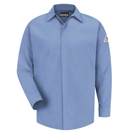Bulwark Flame Resistant CoolTouch 2 Concealed-Gripper Pocketless Shirt