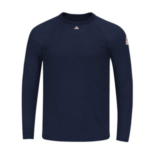 Bulwark Flame Resistant Polartec Long Sleeve Tagless T-Shirt - Click for Large View