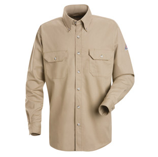 Bulwark Flame Resistant Cool Touch 2 Long Sleeve Shirt With Gusset - Click for Large View