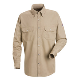 Bulwark Flame Resistant Cool Touch 2 Long Sleeve Shirt With Gusset