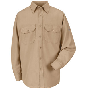 Bulwark Flame Resistant Cooltouch 2 Dress Uniform Shirt - Click for Large View